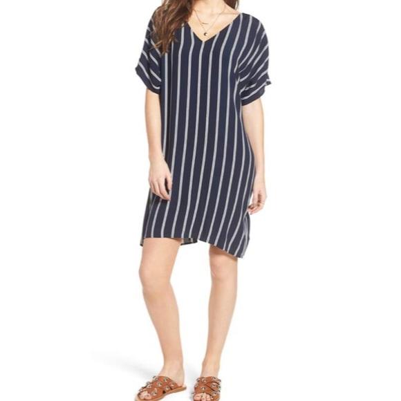 6517d4628 Madewell Dresses   Striped Button Back Plaza Dress   Poshmark